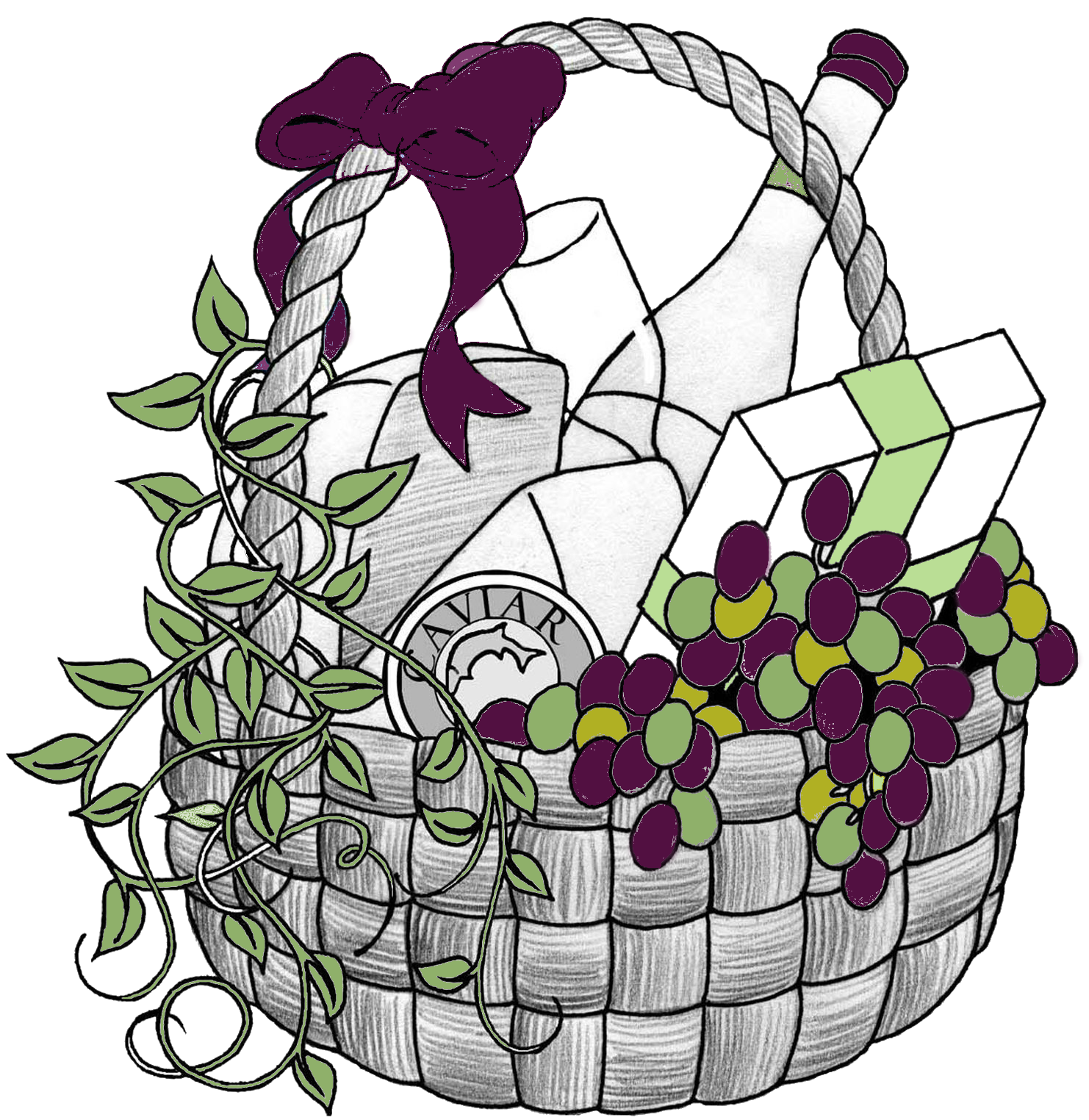 Wildflower clipart. Easter basket free
