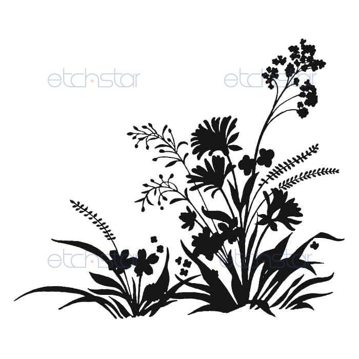 Wildflower clipart wild plant. Best line drawing possibility