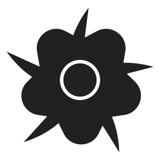 Wildflower vector black grey. Simple icon transparent png