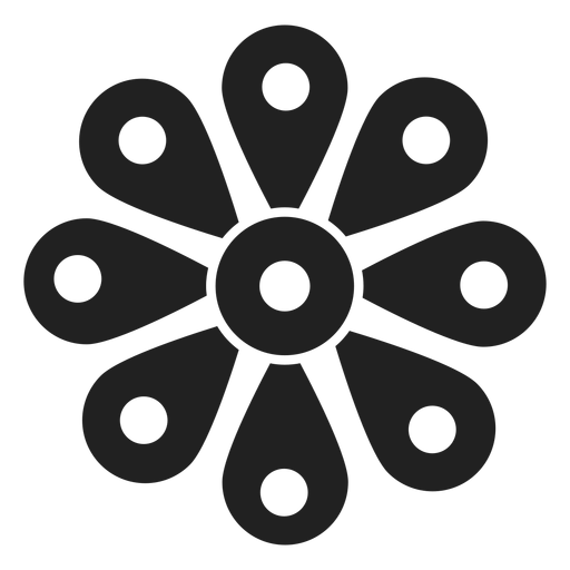 Wildflower vector black grey. Blossom icon transparent png
