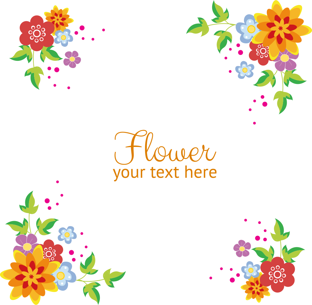 Flowers background transprent png. Wildflower vector border clipart freeuse download