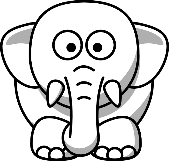 Wildlife drawing black and white. Elephant at getdrawings com