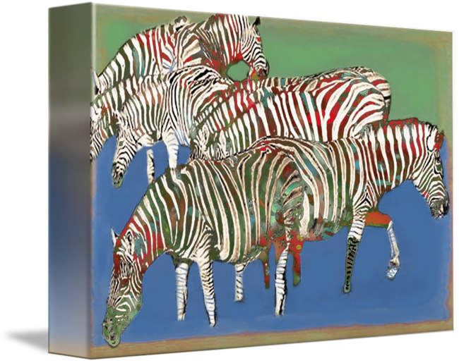 Wildlife drawing poster. Zebra art stylised by