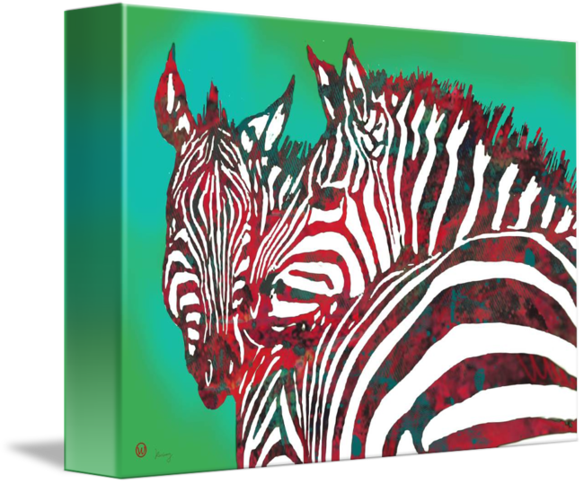 Wildlife drawing poster. Zebra stylised art by