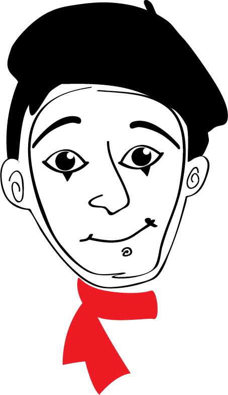 The mime pierrethemimeface illustrationpng. Will pierre png vector