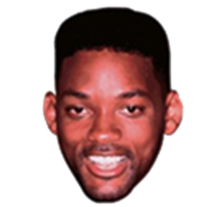 Will smith head png. Transparent roblox