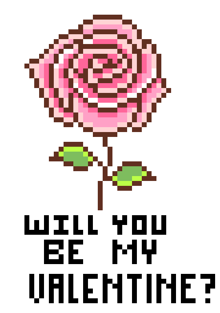 Will you be my valentine png. Pixel art maker