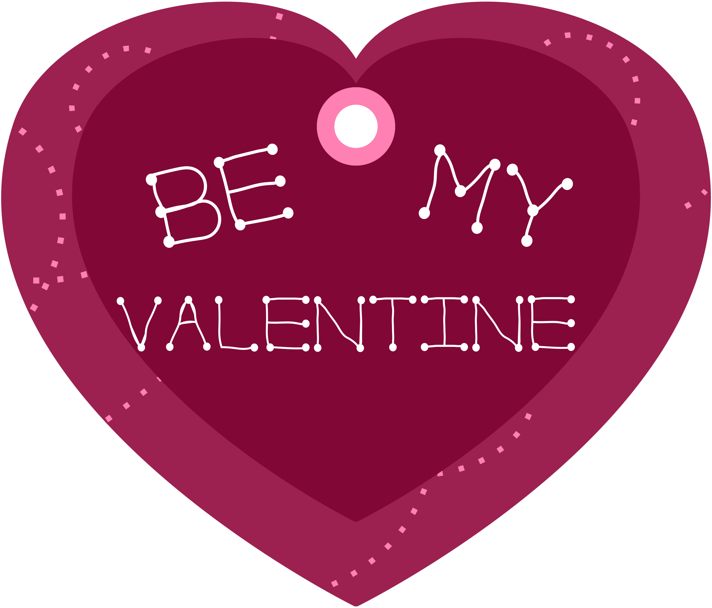 Will you be my valentine png. Heart shaped gift tag