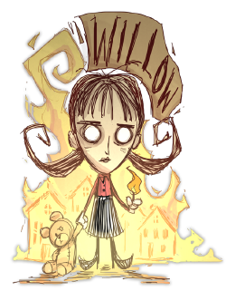 Willow drawing cartoon. Don t starve wiki