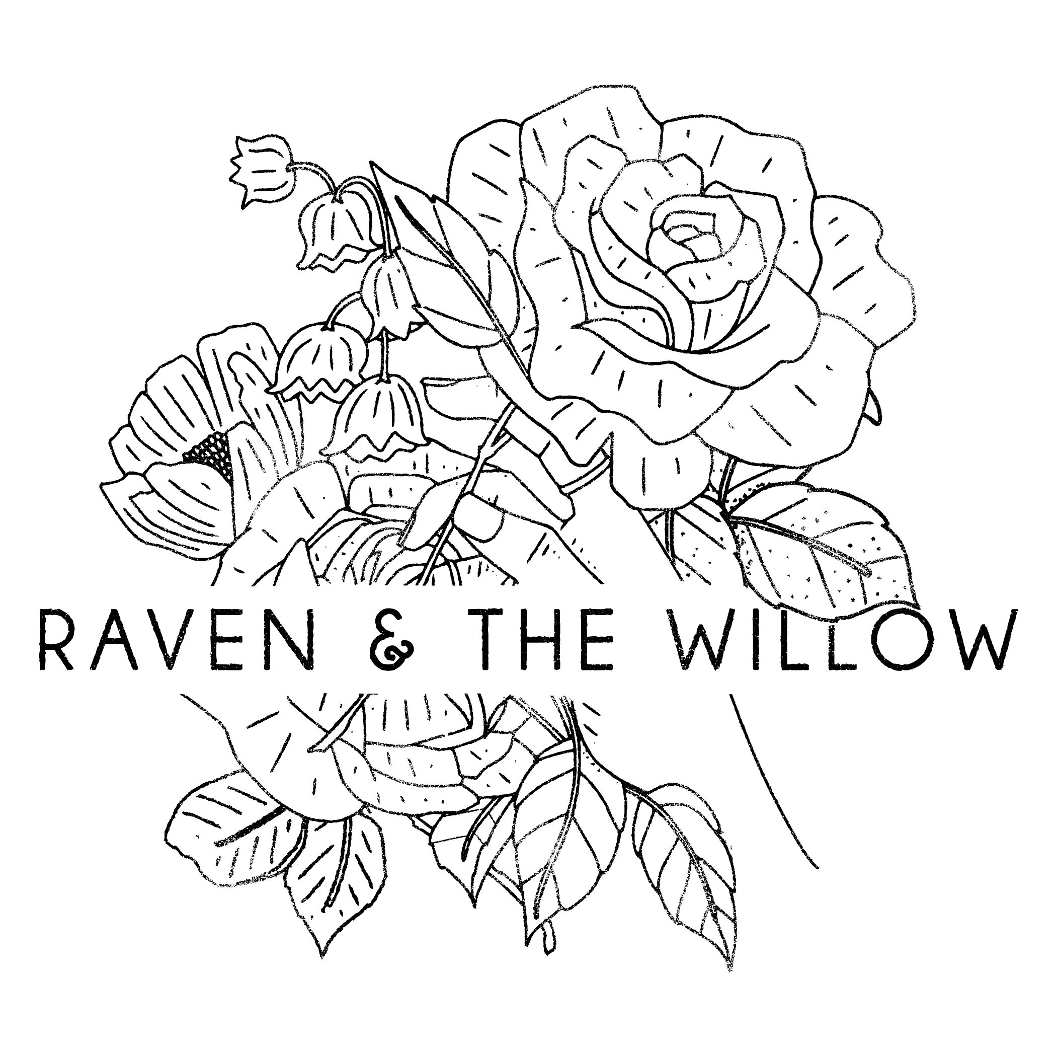 Willow drawing design. Wedding elopement photography raven