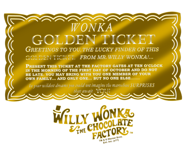 Willy wonka golden ticket png. The chocolate factory men
