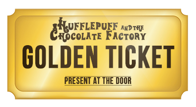 Willy wonka golden ticket png. Hufflepuff and the chocolate