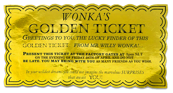 Willy wonka golden ticket png. S chocolate factory marcel