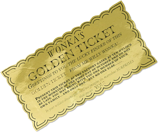 Willy wonka golden ticket png. Download a from and