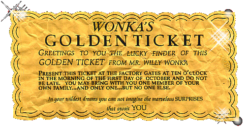 Willy wonka golden ticket png. The