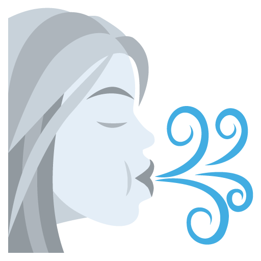 Wind emoji png. Blowing face for facebook