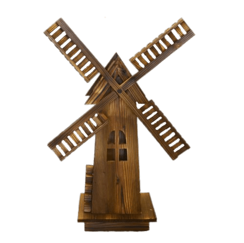 Wind mill png. Wooden windmill transparent stickpng