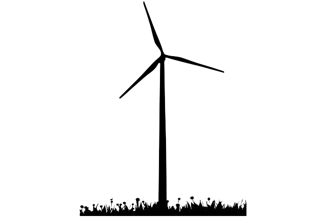 Wind turbine silhouette png. Drawing at getdrawings com