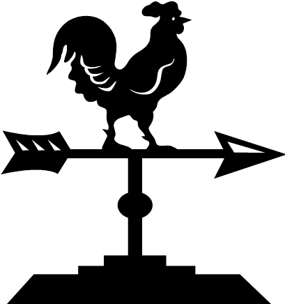 Wind vane png. Black and white transparent