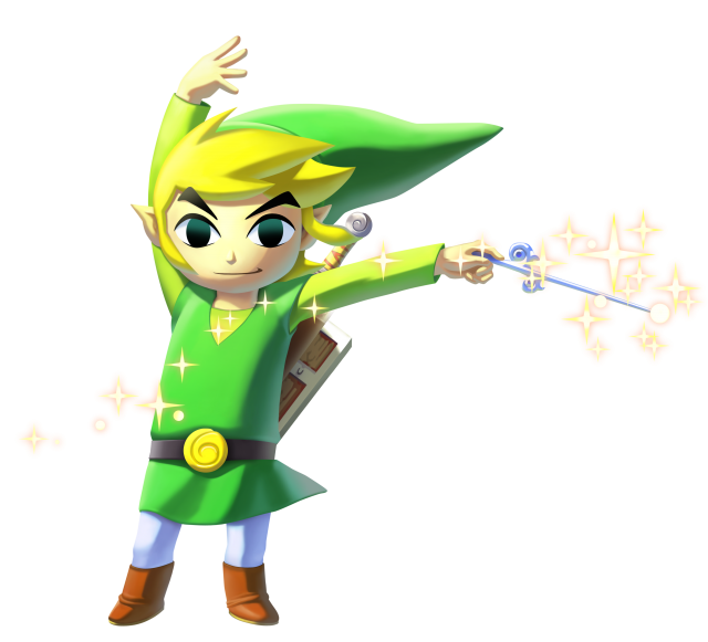 Transparent link wind waker. Image wiiu png vs
