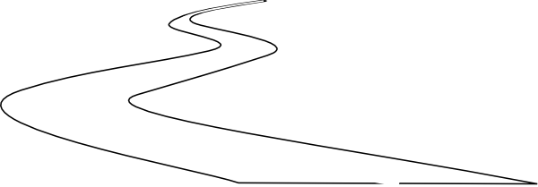 Winding path png. Collection of curved