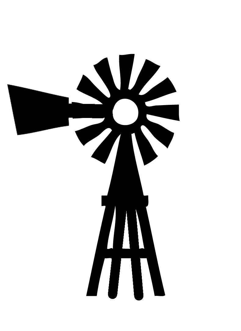 Windmill clipart. Silhouette clip art at