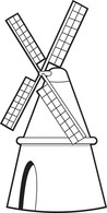 Windmill clipart black and white. Free architecture outline clip