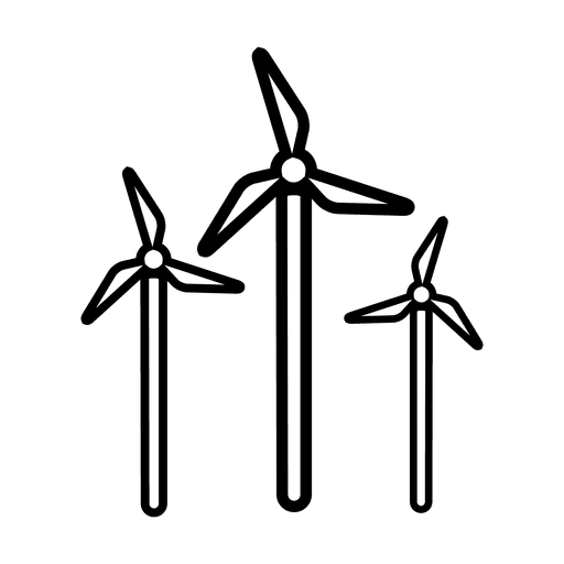 Vector windmill hand. Energy svg transparent png