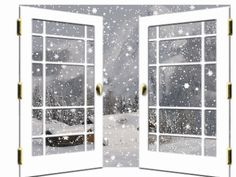 Window clipart animated. Outside cool frosted winter