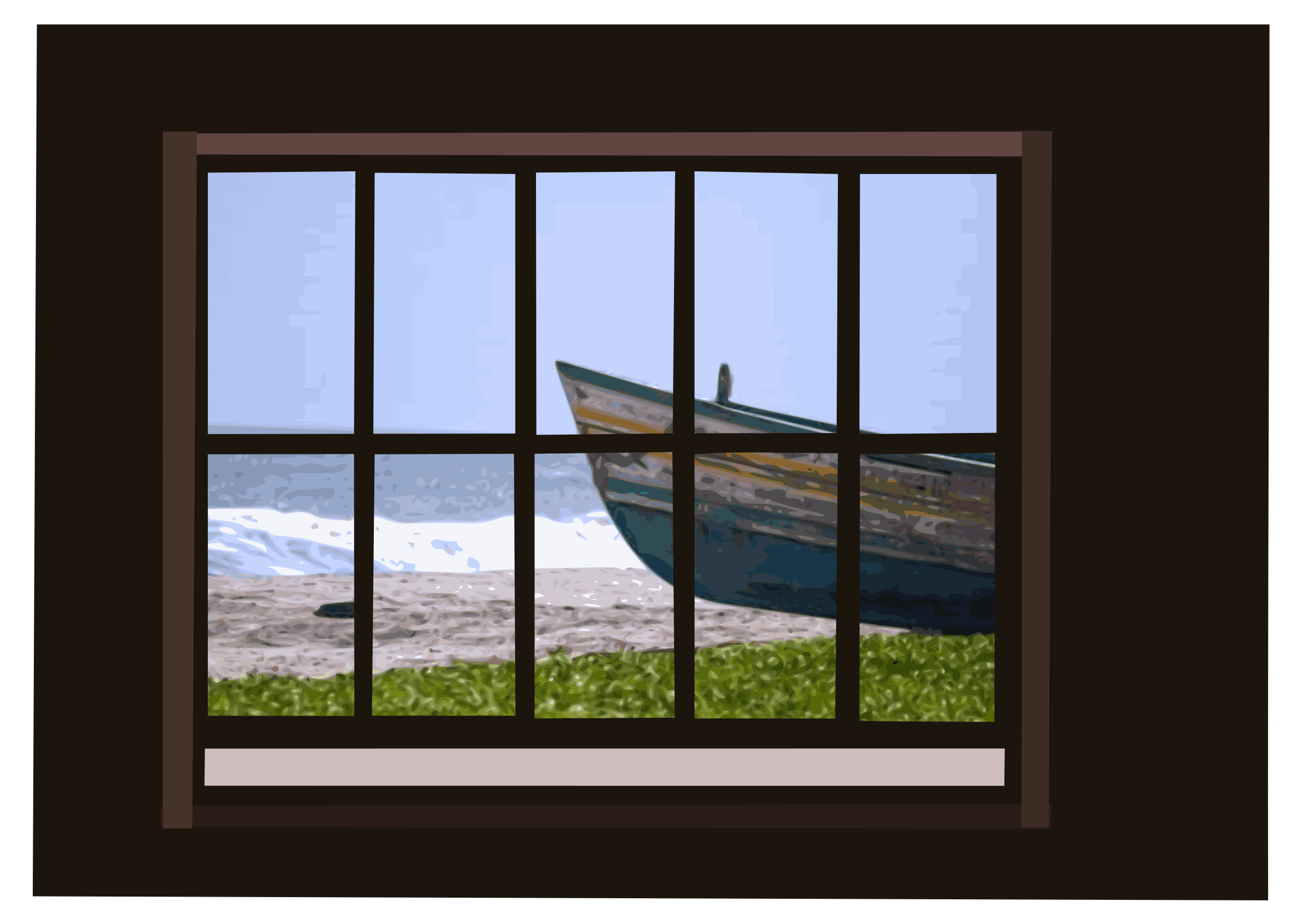 Window clipart big window. With ocean view image