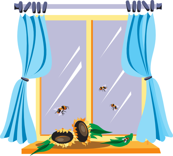Window clipart png. Bees at the clip