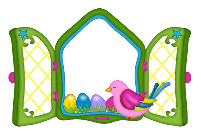 Window clipart png. Easter with eggs and