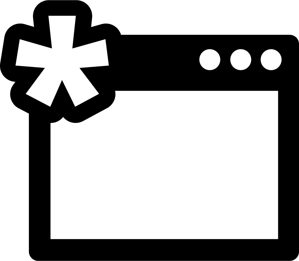 Window svg cross. With asterisk png icon