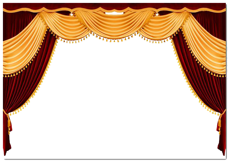 Window with curtains png. Theater drapes and stage