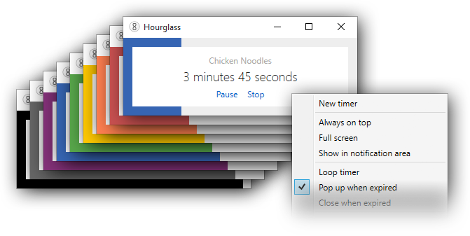 Windows 7 notification png. Hourglass the simple countdown