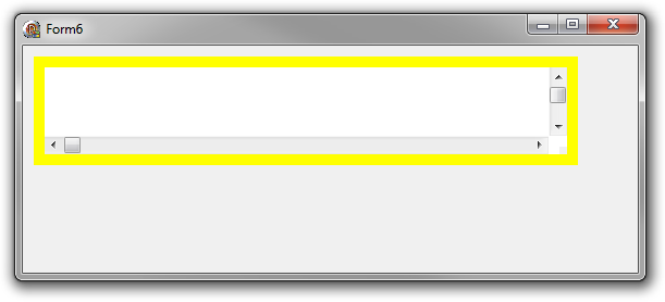 Windows border png. Delphi scrollbar painting issue