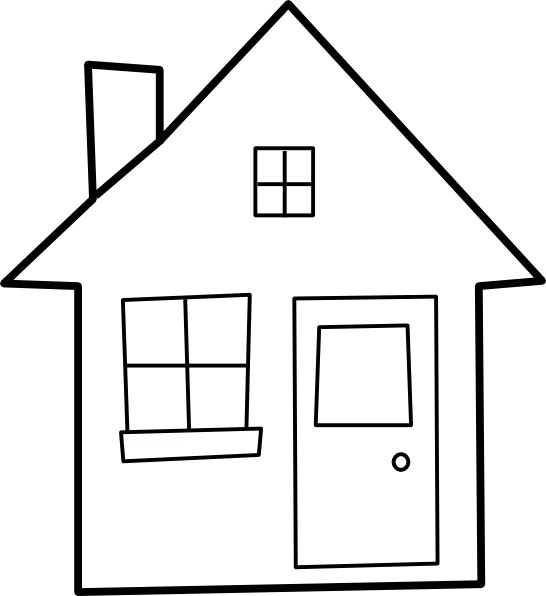 Window black and white. Shelter clipart jpg freeuse download