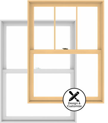 Windows clip storm door. Series double hung