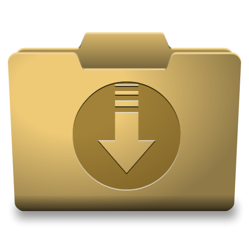 Windows folder icon png. Yellow downloads classy icons