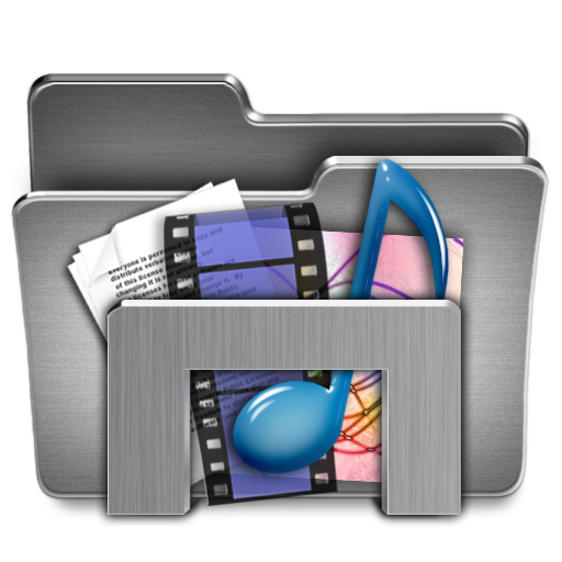 Windows folder icon png. Library steel system iconset