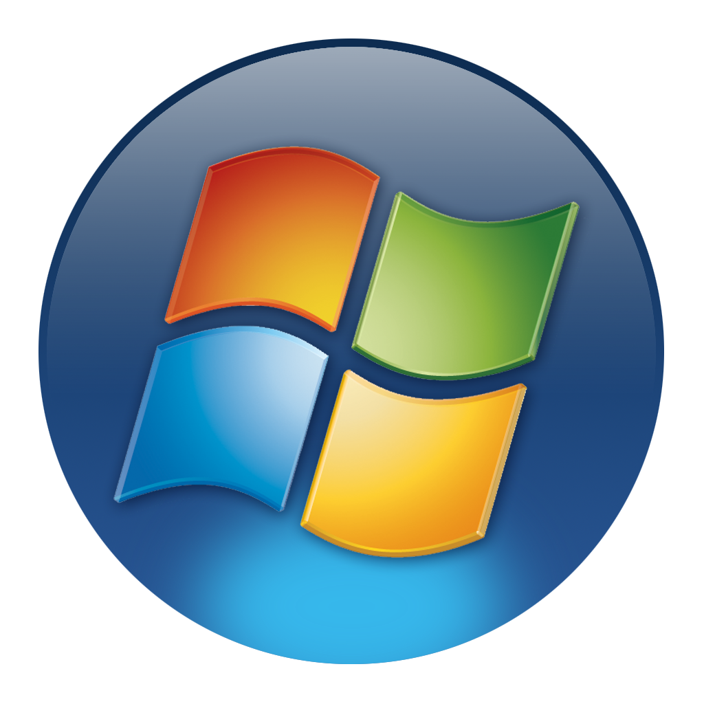 Windows 7 png icons. Transparent background free and