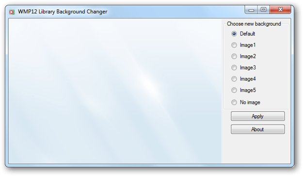 Windows media player 12 png. Change wmp library background