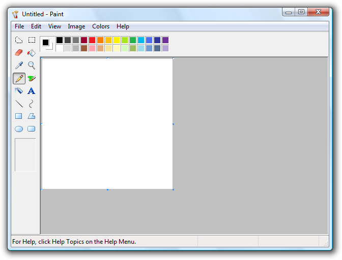 Windows paint transparent png. Software in vista