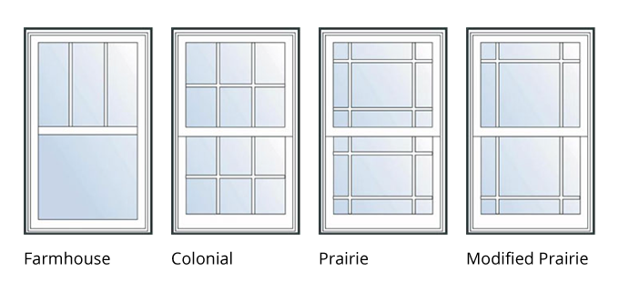 Windows transparent exterior. Window styles for homes