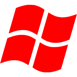 Windows transparent operating system. Red os icon free