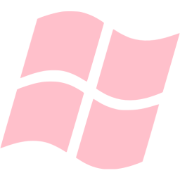 Windows transparent operating system. Pink os icon free