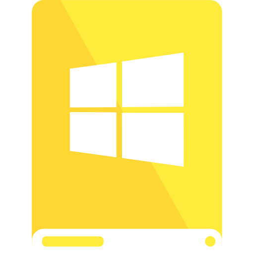 Windows transparent yellow. Drive white icon search