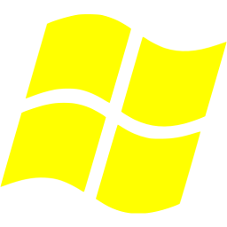 Windows transparent yellow. Os icon free operating
