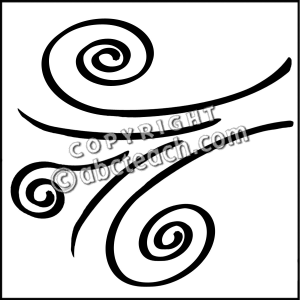 Windy clipart gust. Of wind drawing at