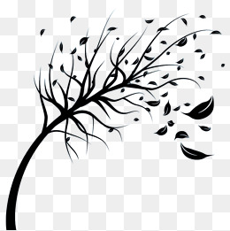 Windy clipart wind blown tree. Blowing png vectors psd